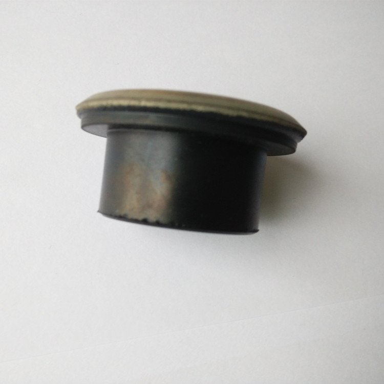 Rubber coated metal parts