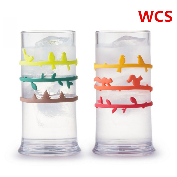 Silicone wine cup logo